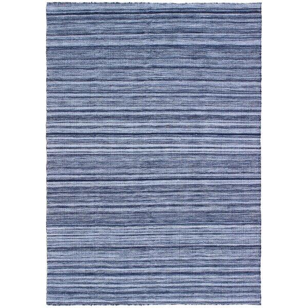 Englund Ombre Hand-Woven Blue Indoor/Outdoor Area Rug by Breakwater Bay