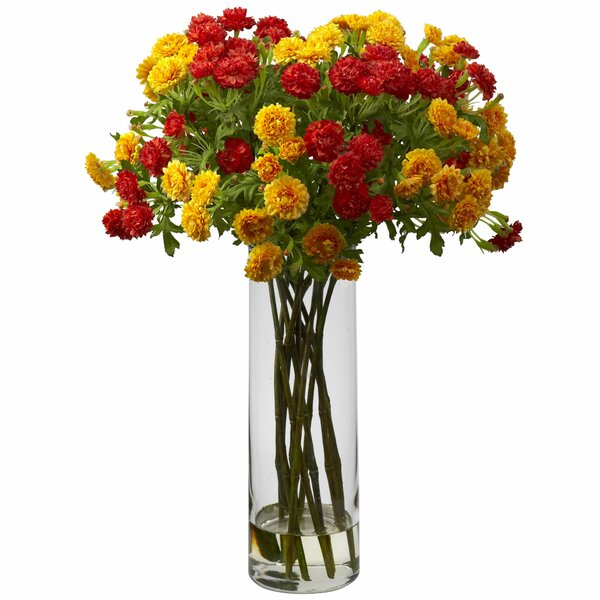 Silk Japanese Flower Arrangement in Decorative Vase by Alcott Hill