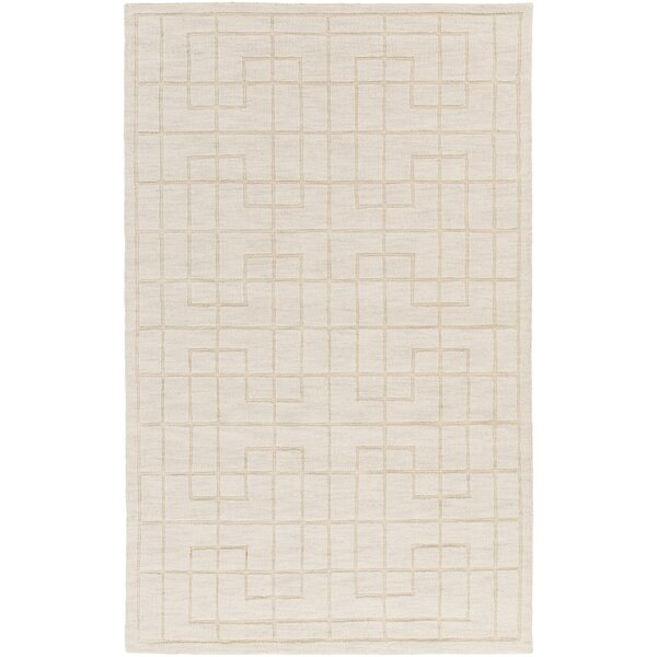 Peever Hand-Loomed Khaki Area Rug by Charlton Home