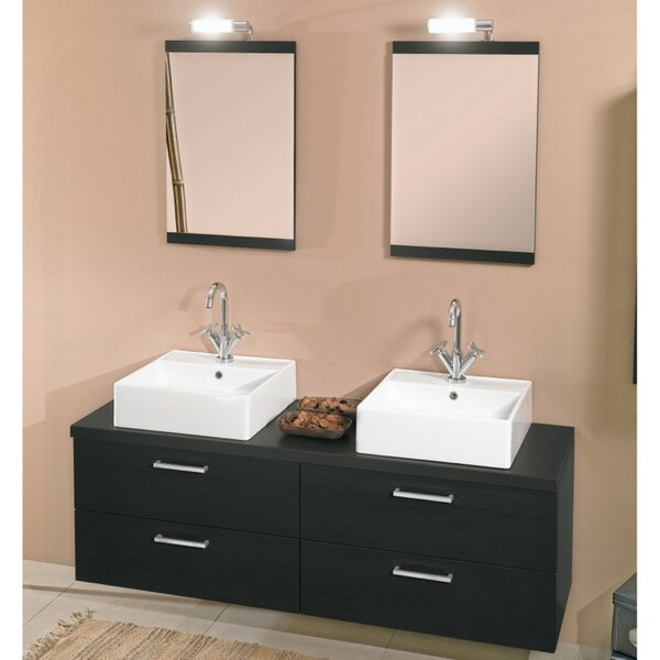 Aurora 60 Double Bathroom Vanity Set with Mirror by Iotti by Nameeks