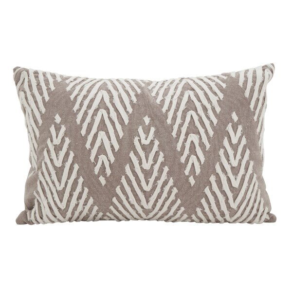 East Rolstone Chevron Cotton Lumbar Pillow by Rosecliff Heights