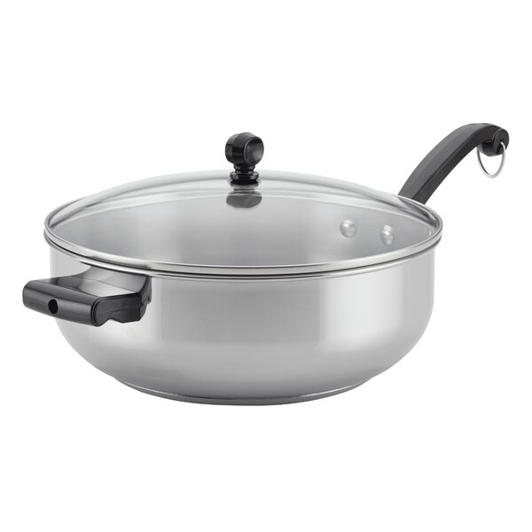 Classic Series 6 qt. Stainless Steel Covered Saute Pan with Lid by Farberware