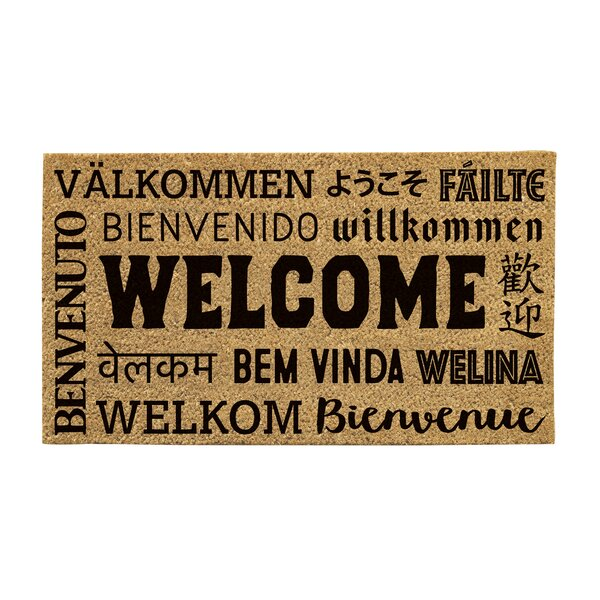 Feldt Welcome Neighbor Coir Doormat by Bloomsbury Market