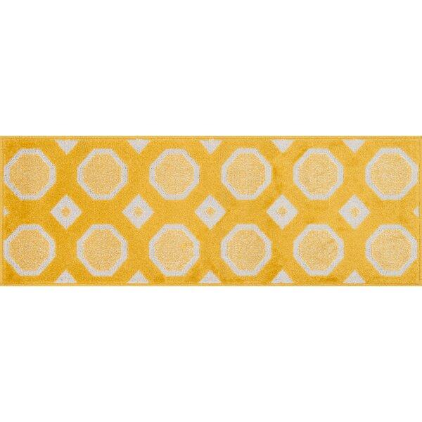 Laudenslager Lemon/Ivory Area Rug by Ebern Designs