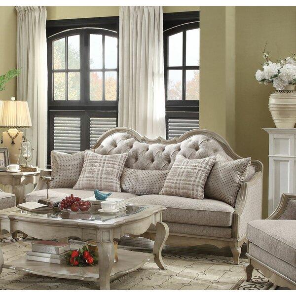 Lambdin Wooden Sofa by One Allium Way