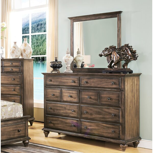 Van Buren 5 Drawer Dresser with Mirror by Greyleigh