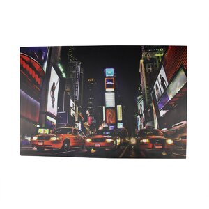 Battery Operated 8 LED NYC Broadway Time Square Photographic Print on Canvas by Northlight Seasonal