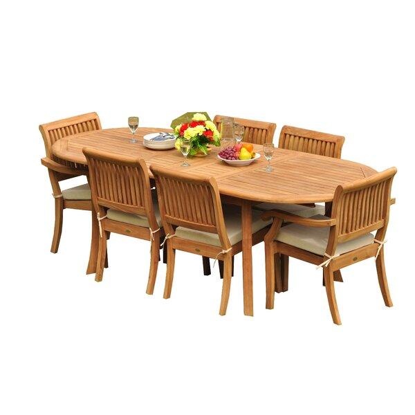 Masten 7 Piece Teak Dining Set by Rosecliff Heights