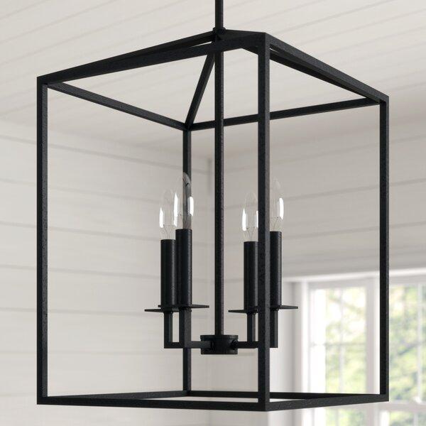 Odie 4 - Light Lantern Rectangle Chandelier by Laurel Foundry Modern Farmhouse Laurel Foundry Modern Farmhouse