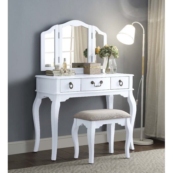 Calla Vanity Set with Mirror by Ophelia & Co.