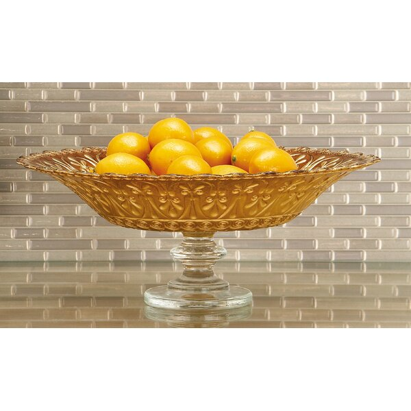 Glass Footed Bowl by Cole & Grey