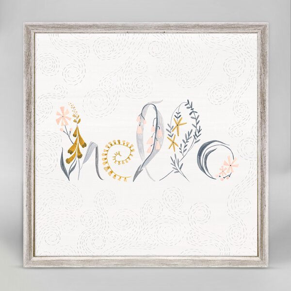 Hello Flowers by Rae Ritchie Mini Canvas Framed Art by Oopsy Daisy