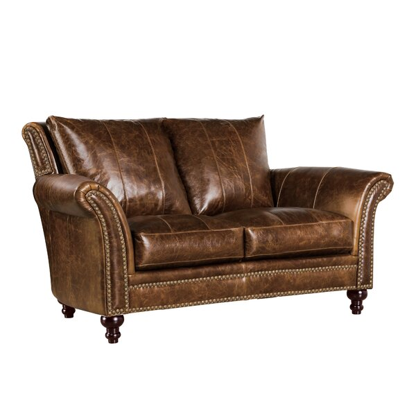 De Foix Leather Loveseat by Canora Grey