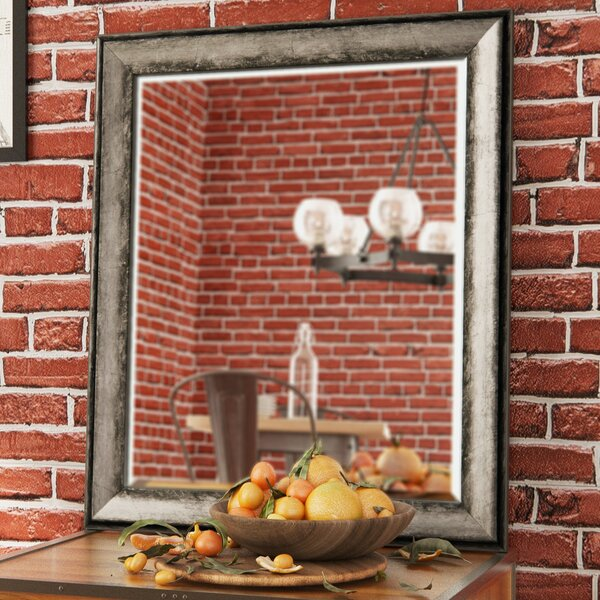 Mccreary Sterling Charcoal Wall Mirror by Trent Austin Design