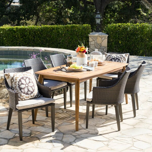 7 Piece Dining Set with Cushions by Brayden Studio