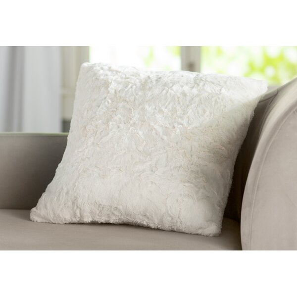 Patterson Faux Fur Throw Pillow by Harriet Bee| @ $26.99