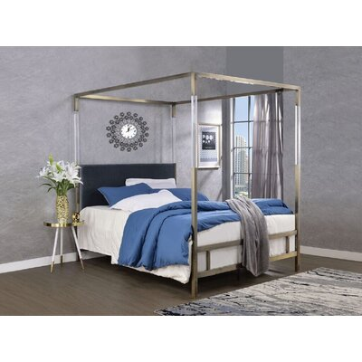 Sherwin Queen Upholstered Canopy Bed Everly Quinn
