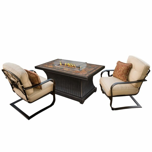 Kirschner 3 Piece Conversation Set with Cushions by Red Barrel Studio