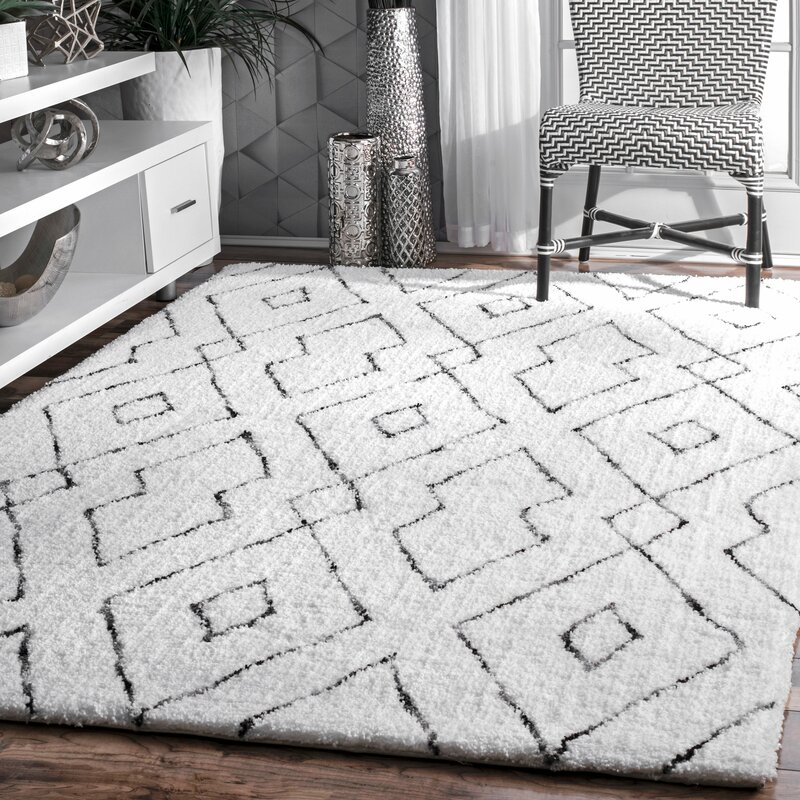 default_name - Mercury Row Peraza Hand-Tufted White Area Rug & Reviews Wayfair