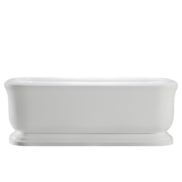 Modica 67 x 32 Freestanding Soaking Bathtub by Vinnova