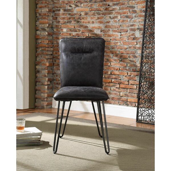 Lotus Upholstered Dining Chair (Set of 2) by 17 Stories