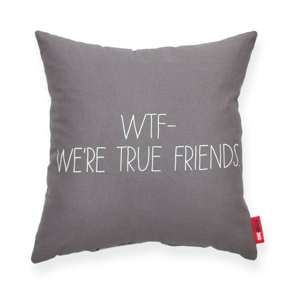Expressive WTF Decorative Throw Pillow by Posh365