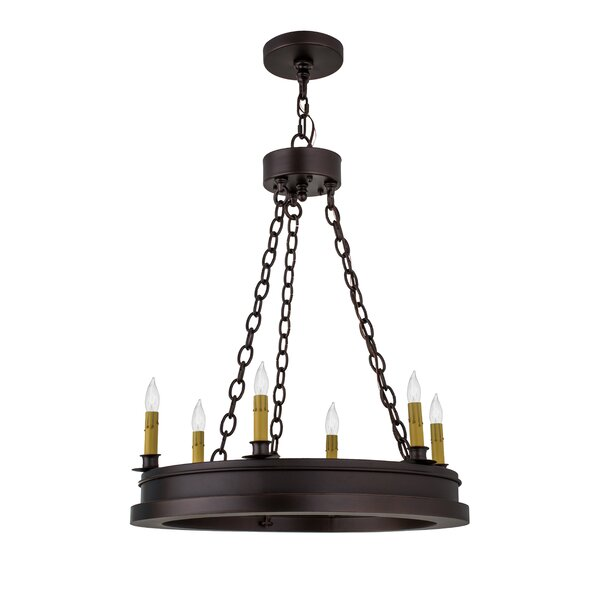 Tebikerei 6 - Light Candle Style Wagon Wheel Chandelier by Canora Grey Canora Grey