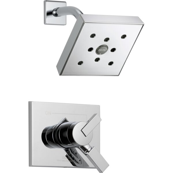 Vero Shower Faucet Trim with Lever Handles and H2o