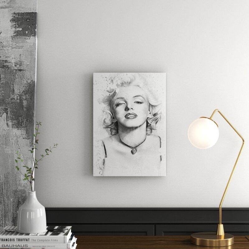 Black And White Art Marilyn Monroe