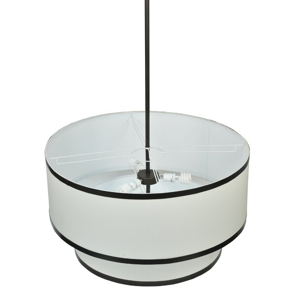 2 - Light Shaded Drum Chandelier By Meyda Tiffany