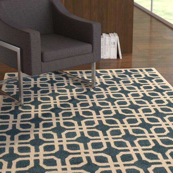 Murrah Blue/Ivory Area Rug by Ebern Designs