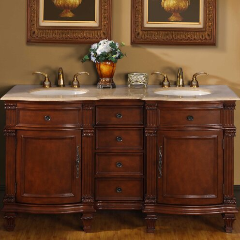 Hartell 60 Double Bathroom Vanity Set by Astoria Grand