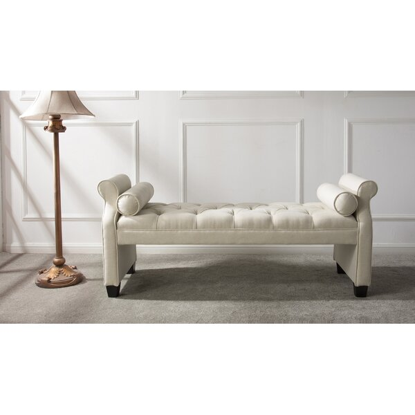 Belby Roll Arm Upholstered Bench by Everly Quinn