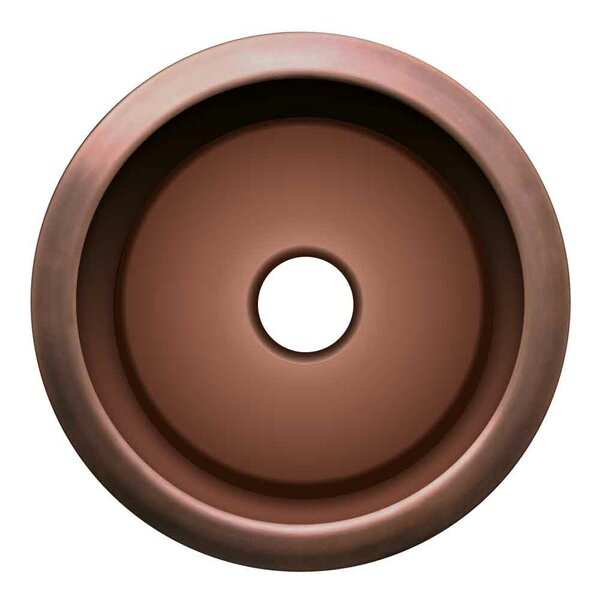 Copperhaus 18.25 x 18.25 Large Round Drop-In Bar Sink