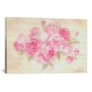 Peonies Passion Painting Print on Wrapped Canvas by Lark Manor