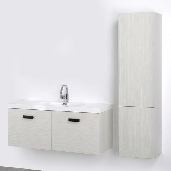 48 Wall-Mounted Single Bathroom Vanity Set