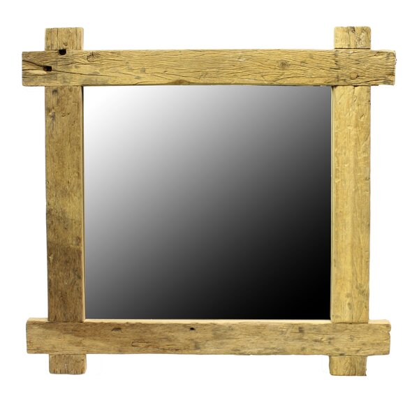 Ariella Square Plank Wood Accent Mirror by Millwood Pines
