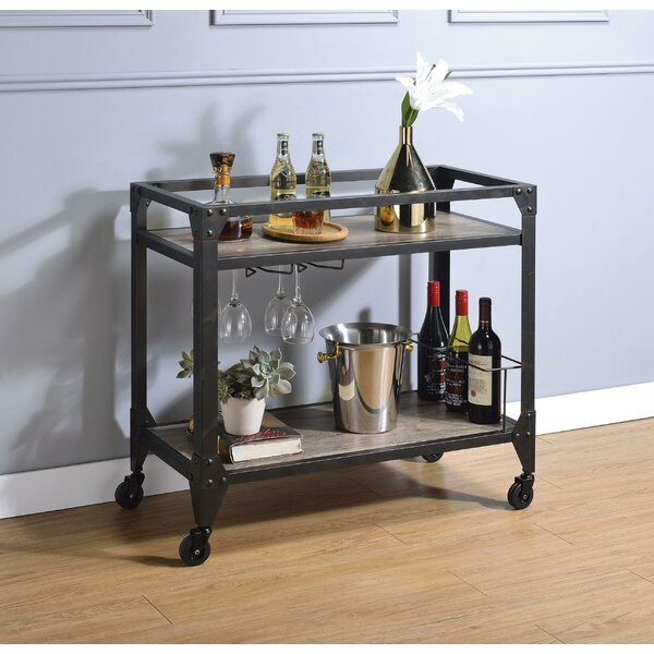 Kelly Metal Framed Bar Cart By 17 Stories Fresh