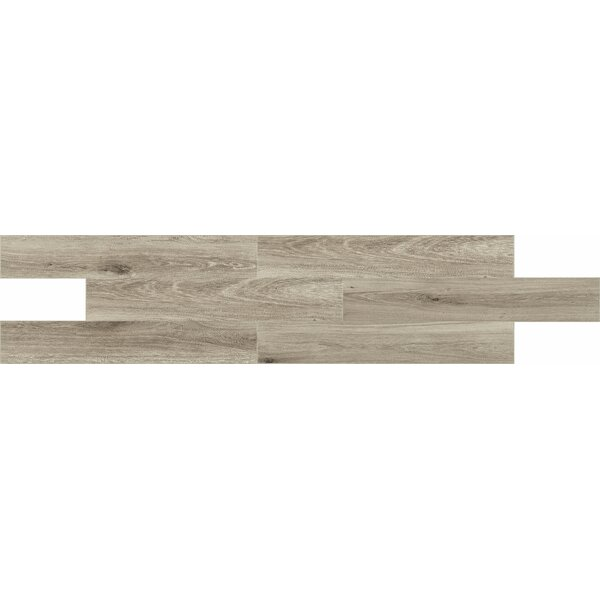 Hereford 6 x 36 Porcelain Wood Look Tile in Gravel Road by Itona Tile