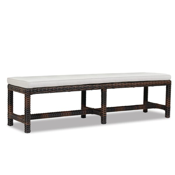 Montecito Wicker Picnic Bench by Sunset West
