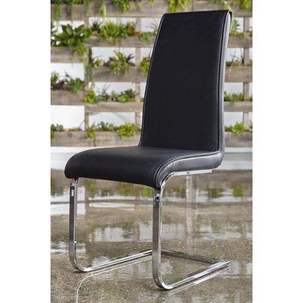 Arche Chrome Leg Side Chair (Set of 2) by Orren Ellis