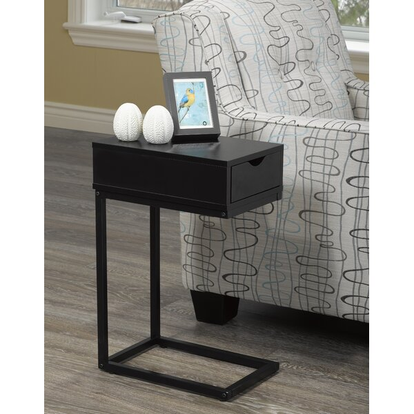 Garett End Table with Storage Drawer by Ebern Designs
