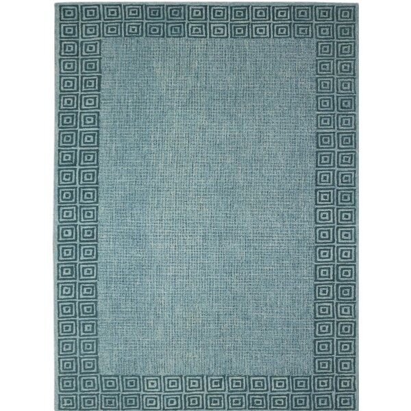Melaney Hand-Tufted Blue Area Rug by Bungalow Rose