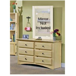 Reviews Alders 6 Drawer Double Dresser By Harriet Bee