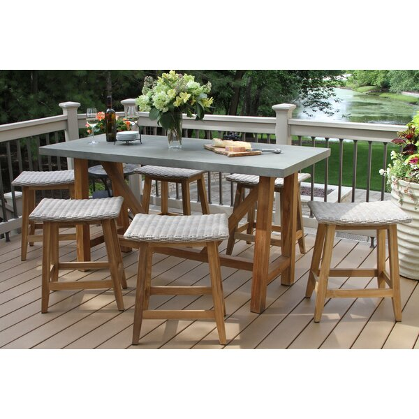 LaPoint 7 Piece Teak Dining Set by Gracie Oaks