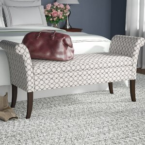 Michigan Upholstered Storage Bench by Alcott Hill