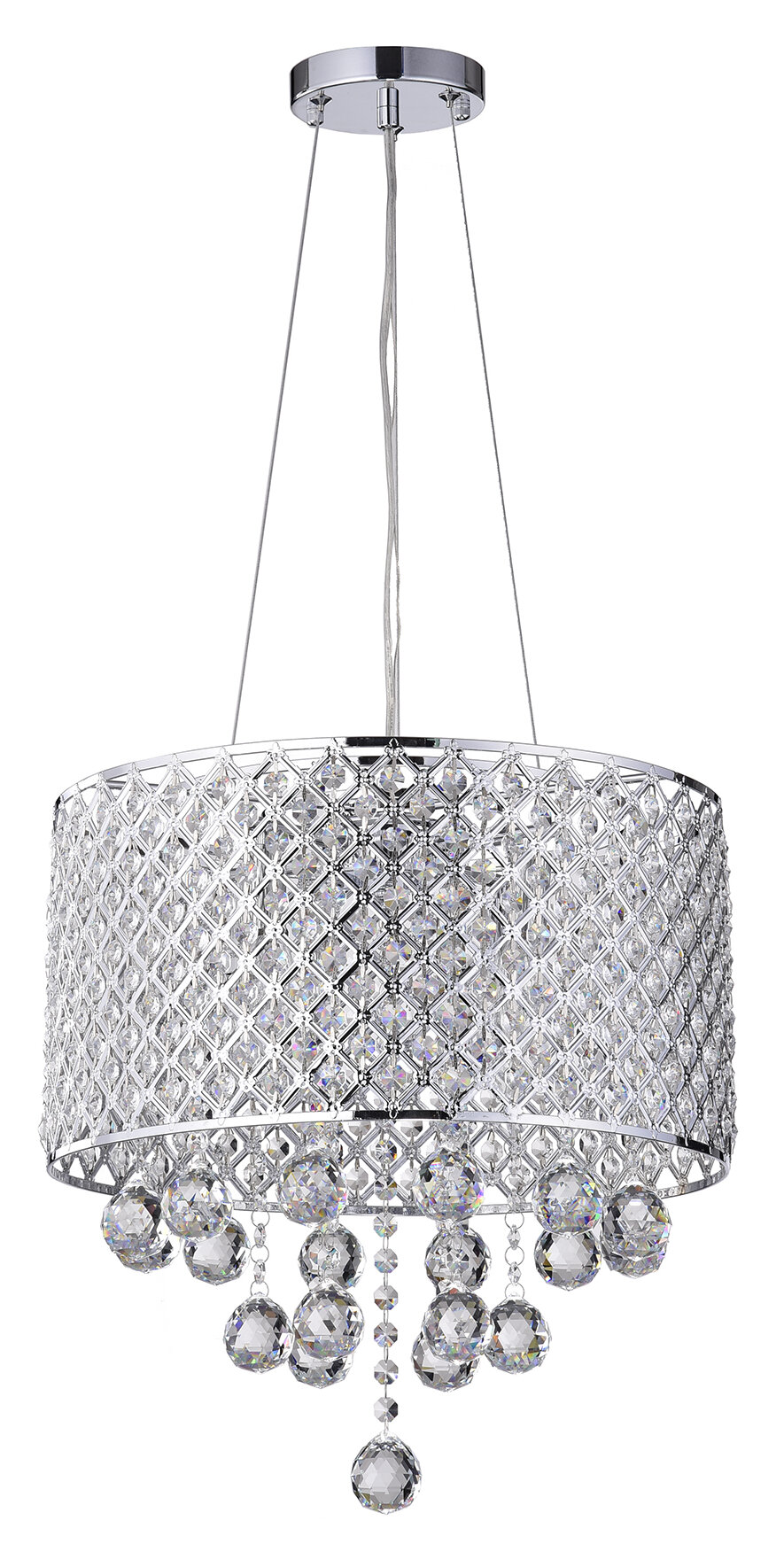 House of Hampton Ginnia 4-Light Crystal Chandelier & Reviews | Wayfair