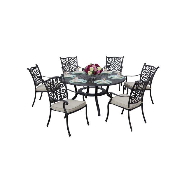Belton 7 Piece Dining Set with Cushions by Fleur De Lis Living