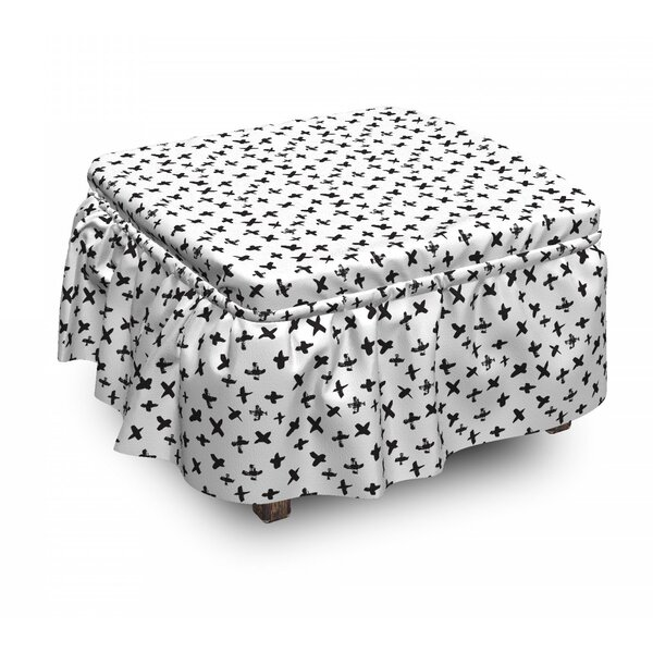 Math Plus Sign Ottoman Slipcover (Set Of 2) By East Urban Home
