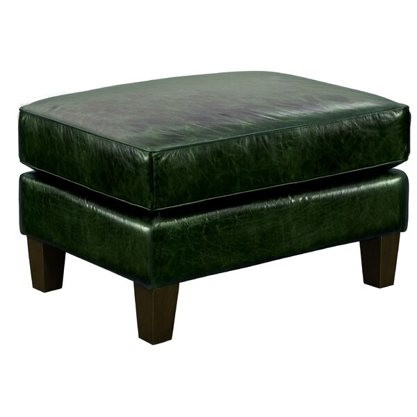 Barrington Accent Leather Ottoman By Canora Grey